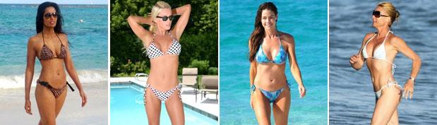 Pasaron los 40 y lucen hermosas en bikini