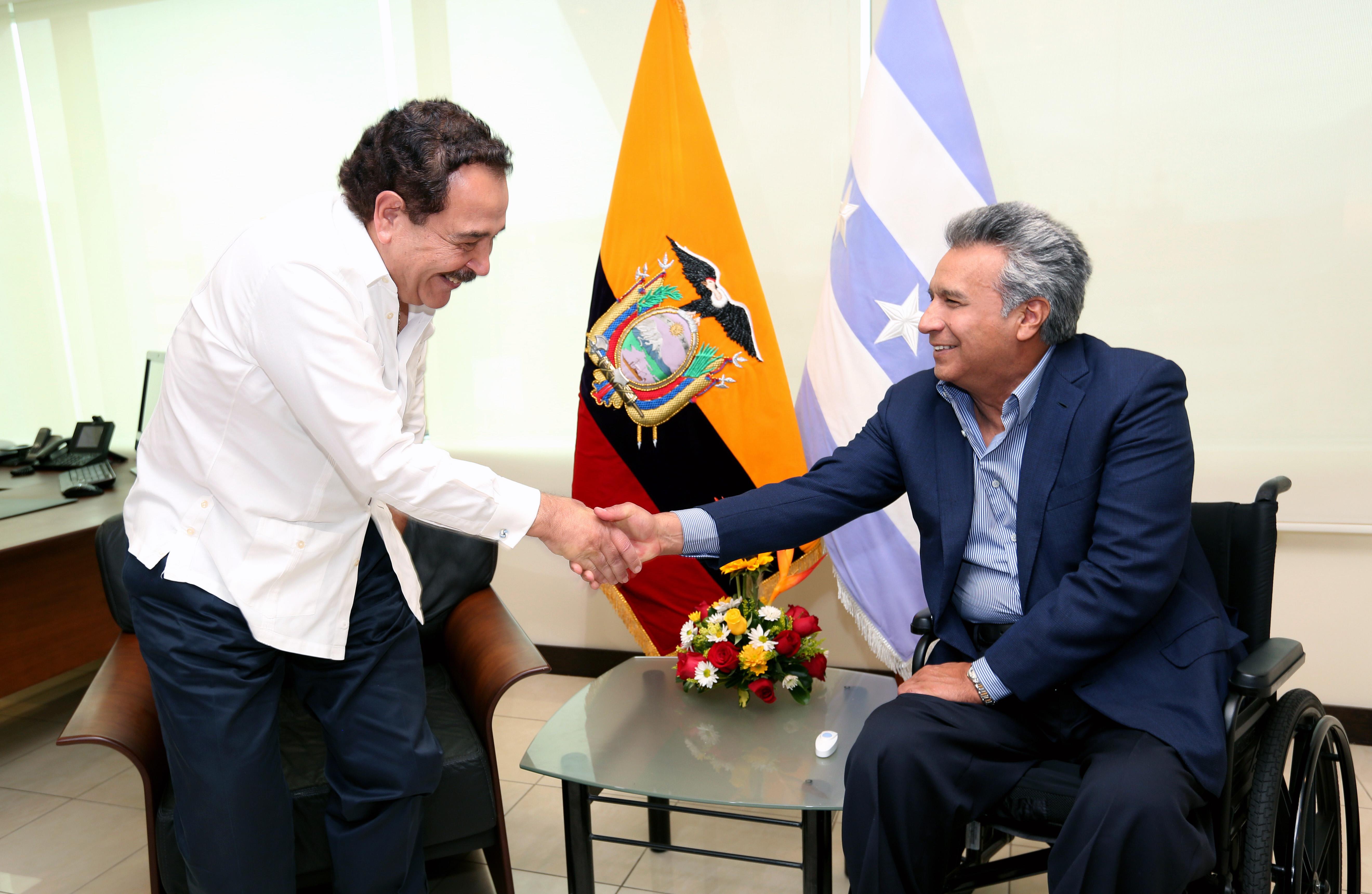 Presidente Moreno mantuvo reunion con el Alcalde de Guayaquil.